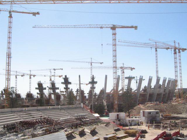 Besuch des Visitercenter des neuen Greenpoint Stadium