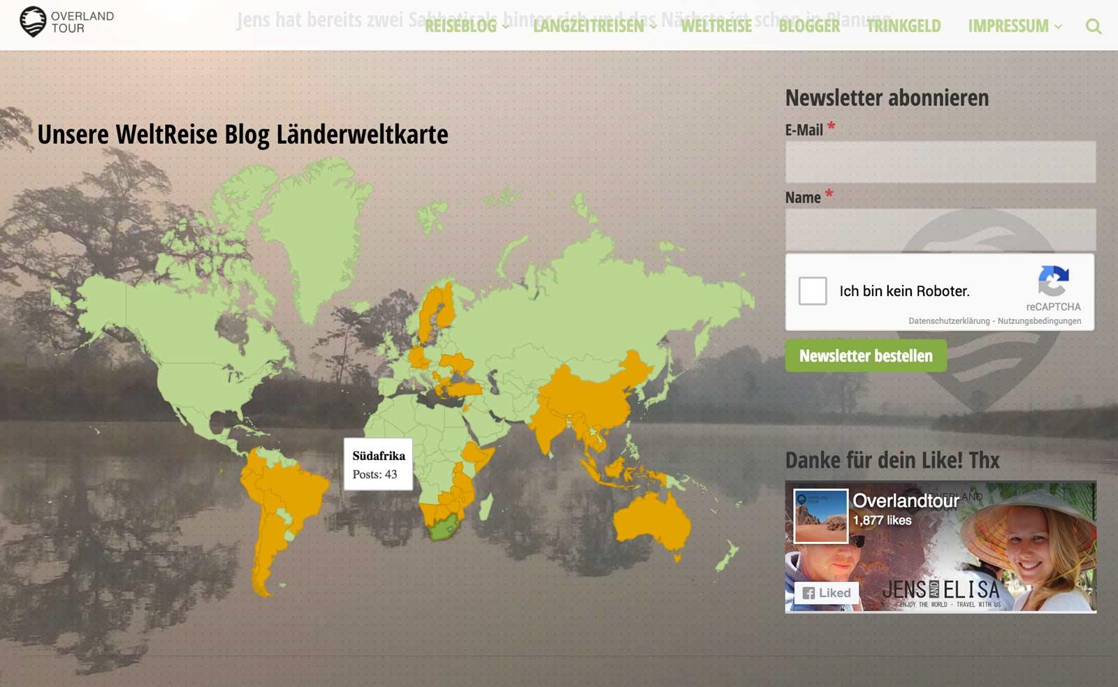 Weltkarten in deinen WordPress Blog einfügen