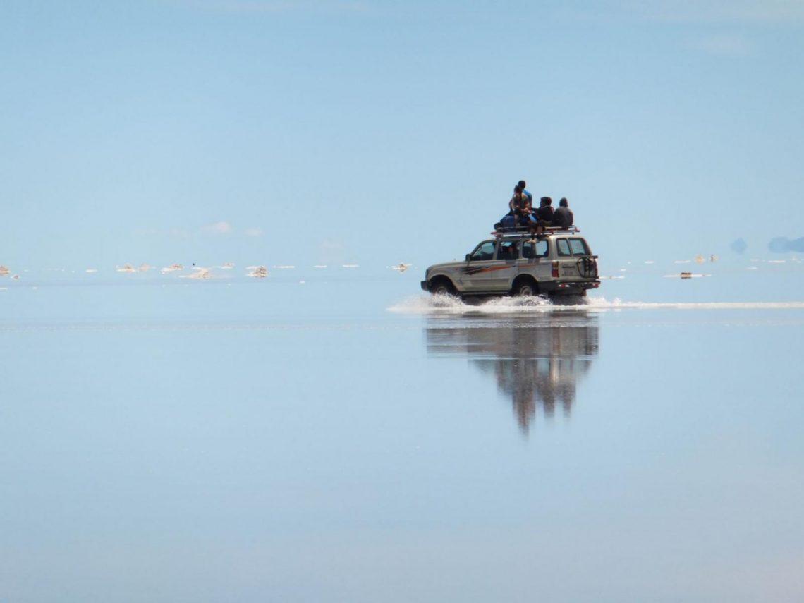 Der Salar de Uyuni während der Regenzeit