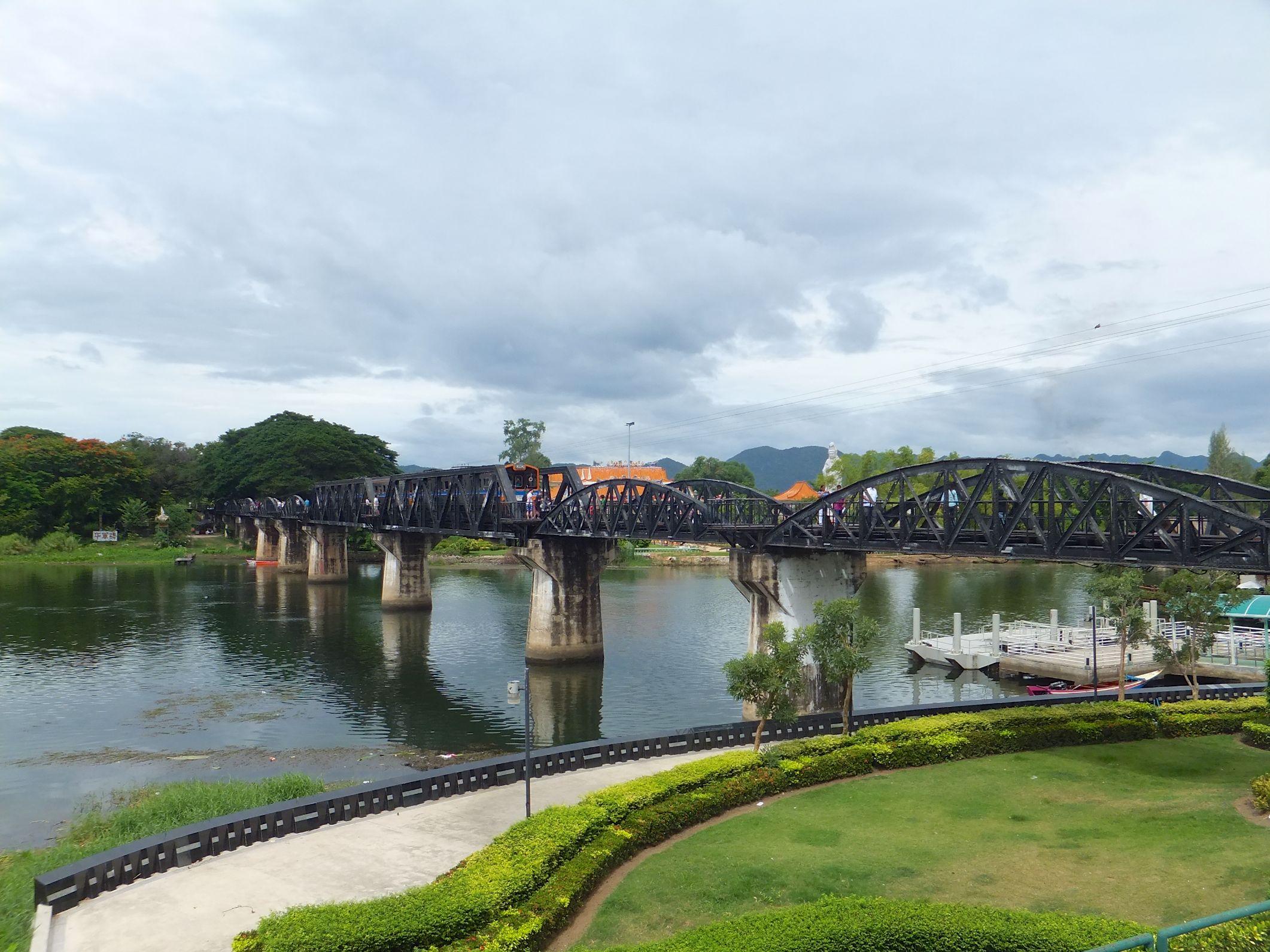 Die Brücke vom Kwai in Kanchanaburi