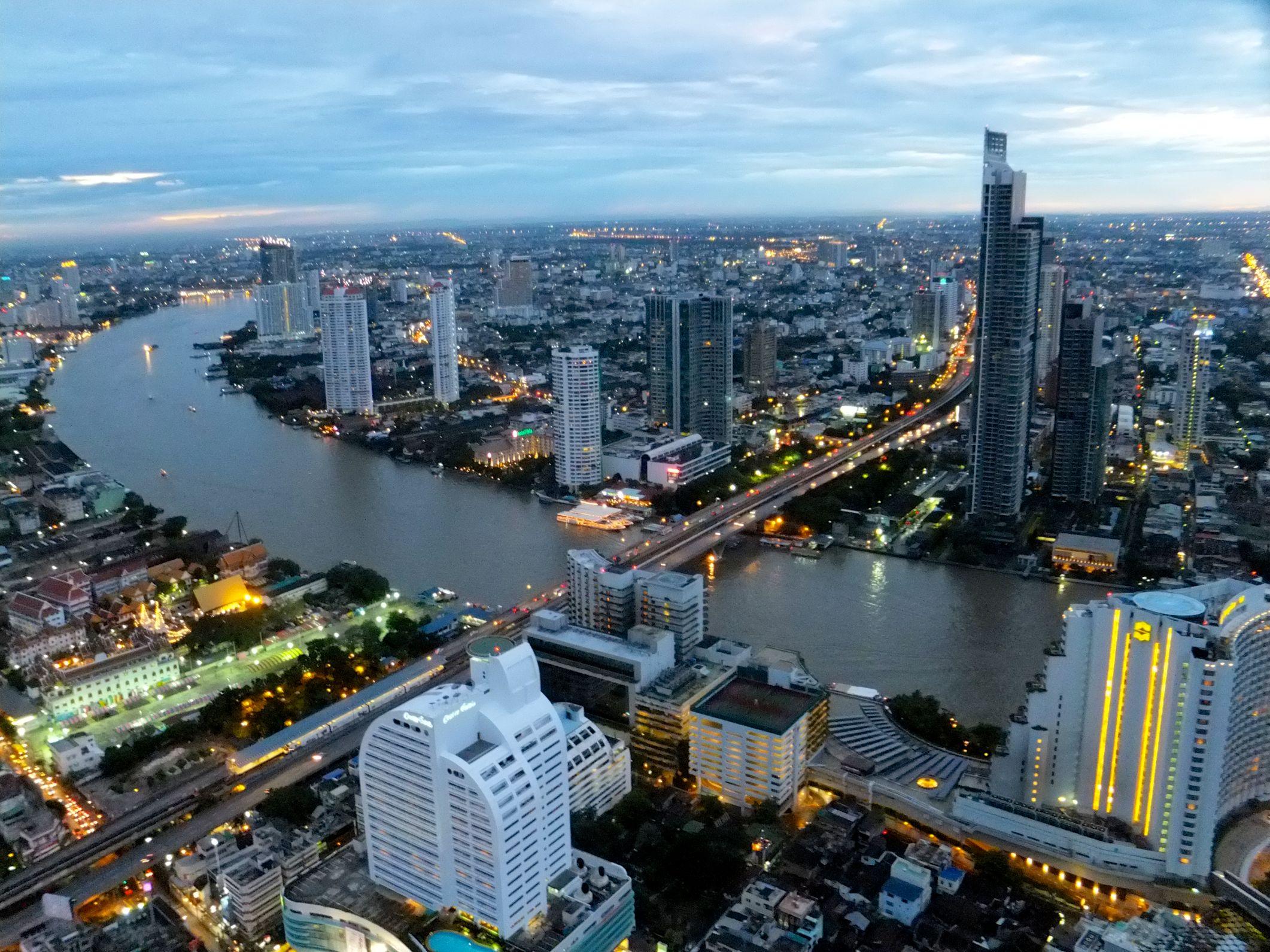 Was eine Aussicht über Bangkok