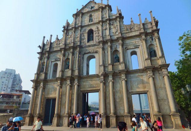Die Ruine von Ruine von St. Paul – Das Wahrzeichen von Macau