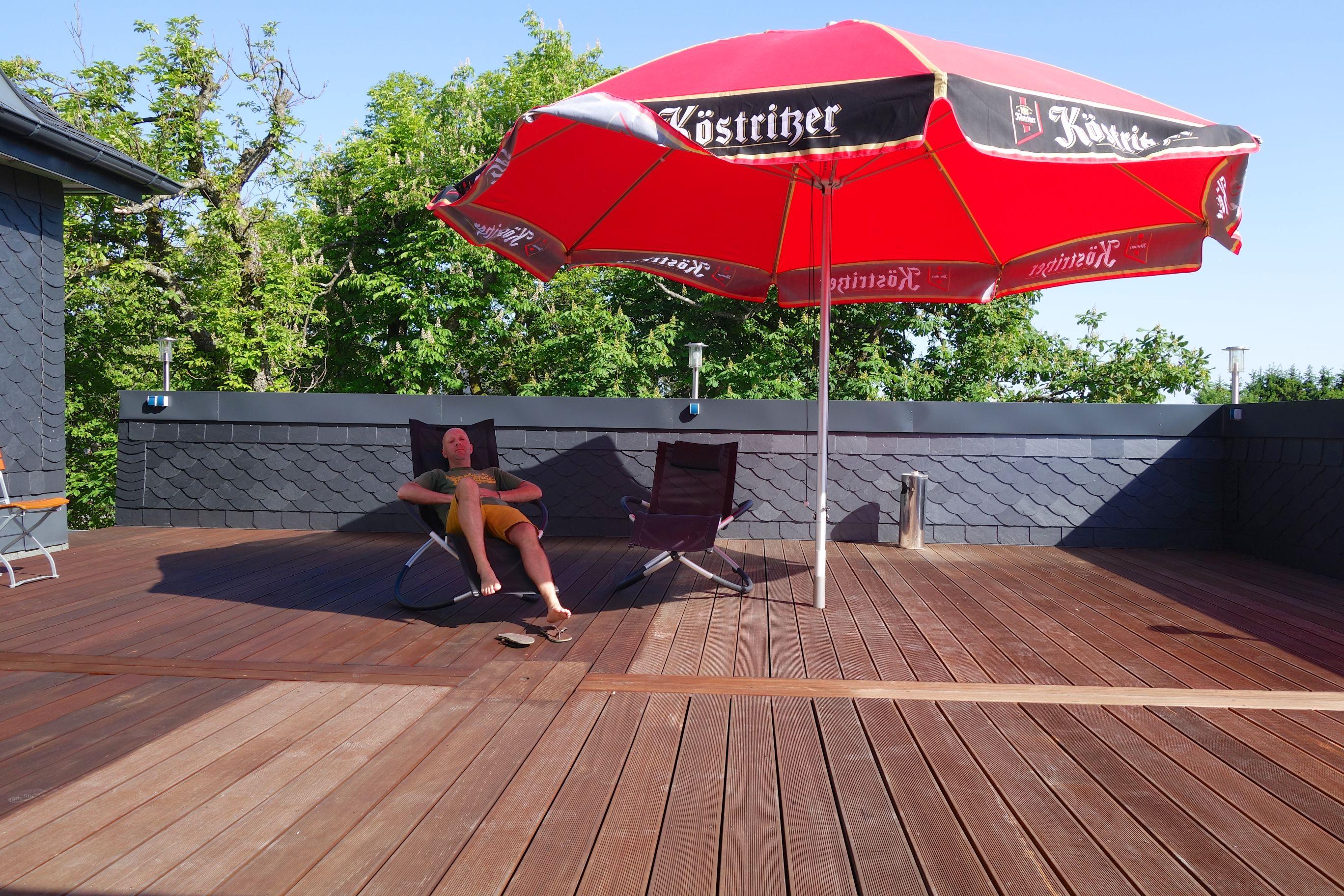 Relaxden im Gasthof Hirsch auf der Sonnenterrasse