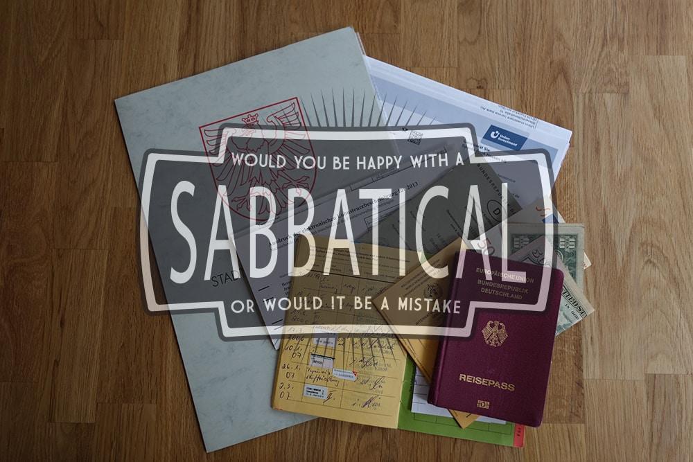 Sabbatical & Sabbatjahr