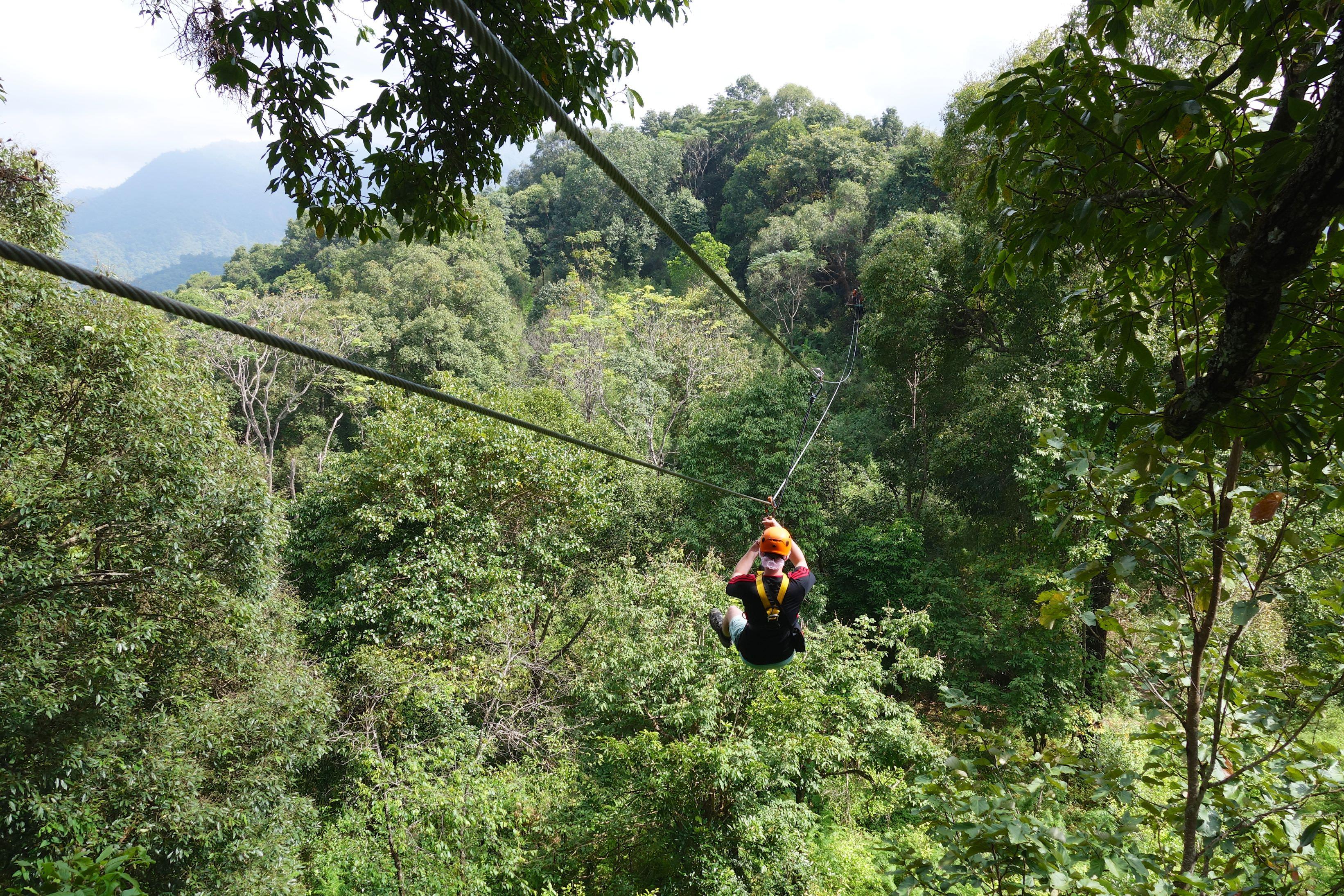 Ziplining bei Chiang Mai