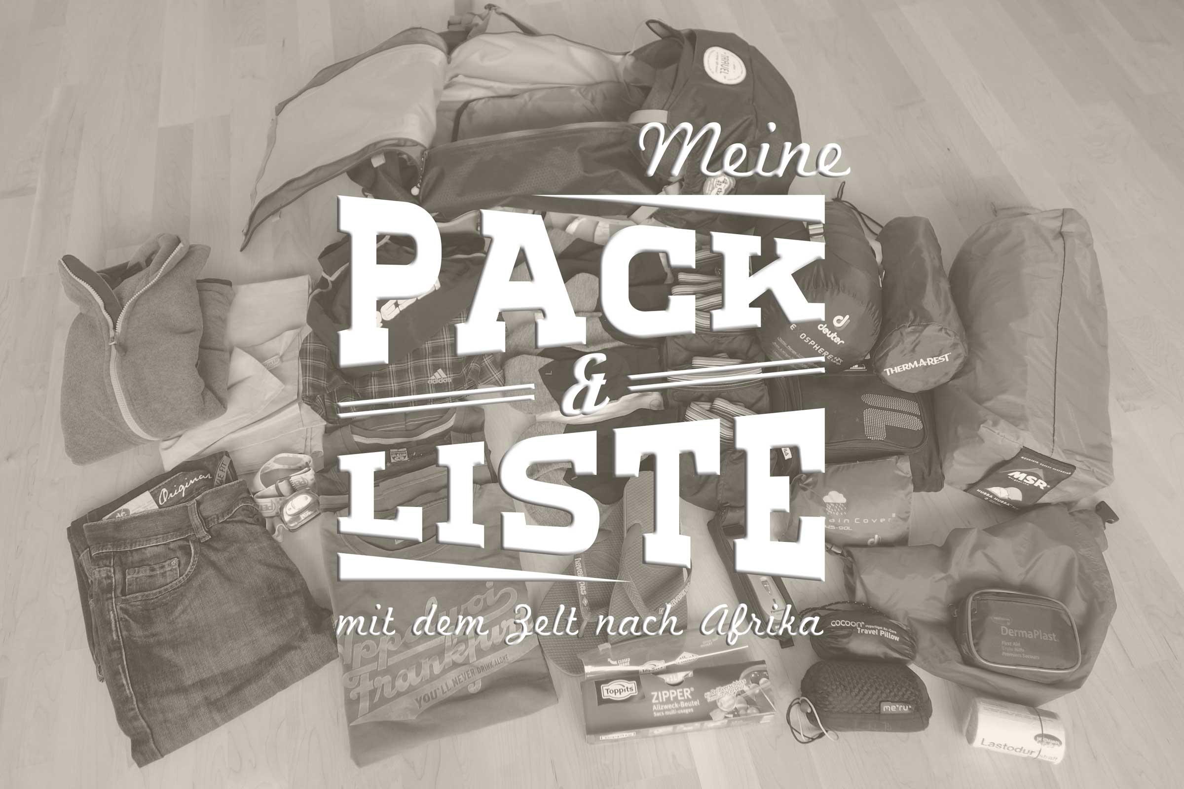 Packliste mit Zelt – Langzeitreise