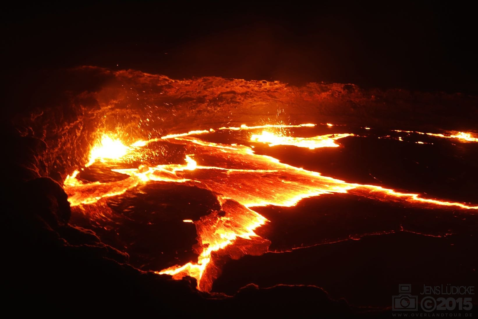 Erta Ale - Der brodelnde Vulkan