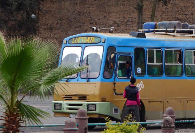 Bus in Gondar