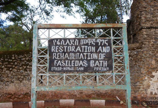 Eingang Fasilides Bath in Gondar