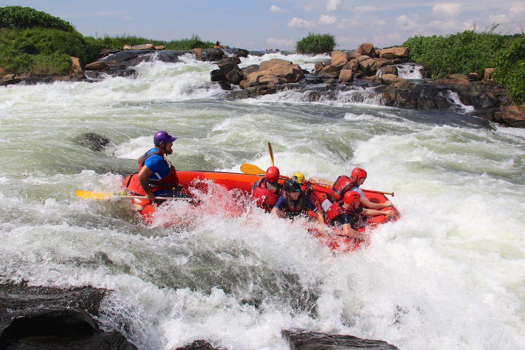 Jinga Uganda ein Platz zum relaxen mit viel Adrenalin