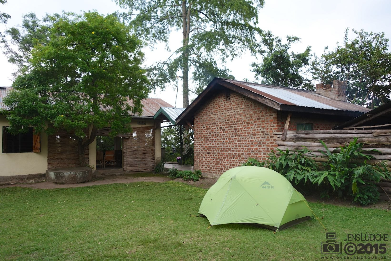 Zelten beim Lake Nkuruba Nature Reserve