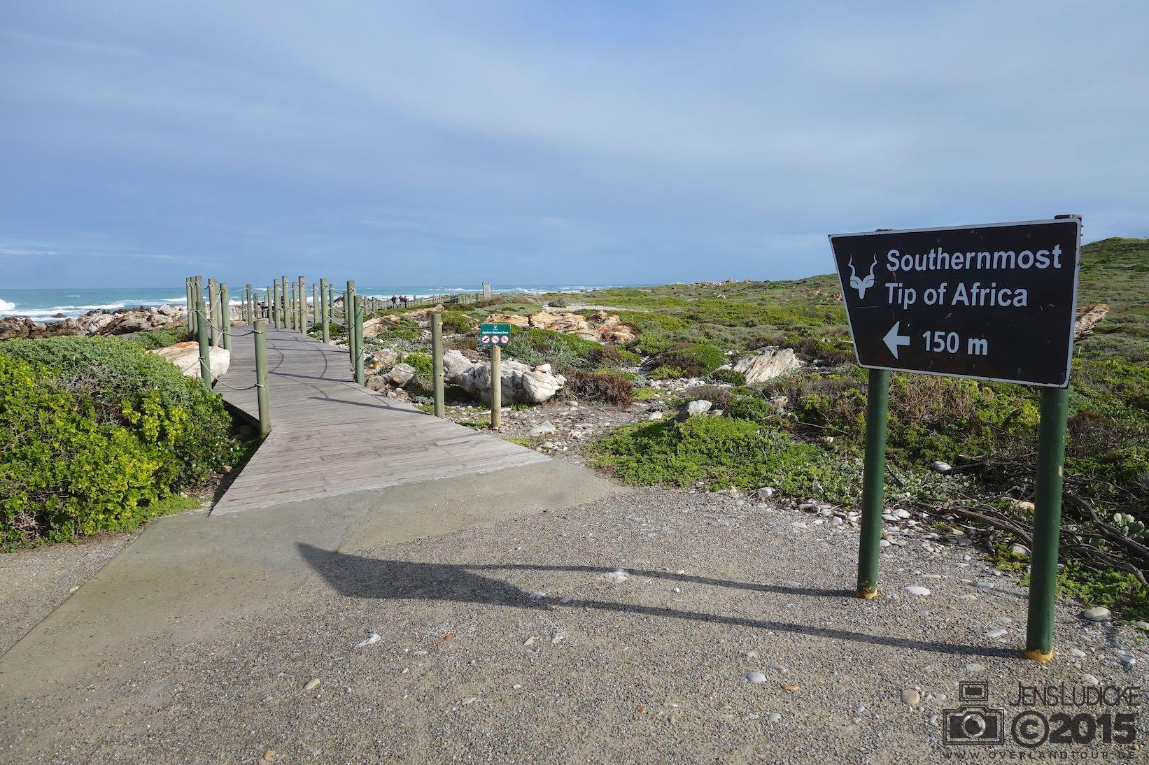 Cape Agulhas - Wo sich der Indische und Atlantischer Ozean trifft