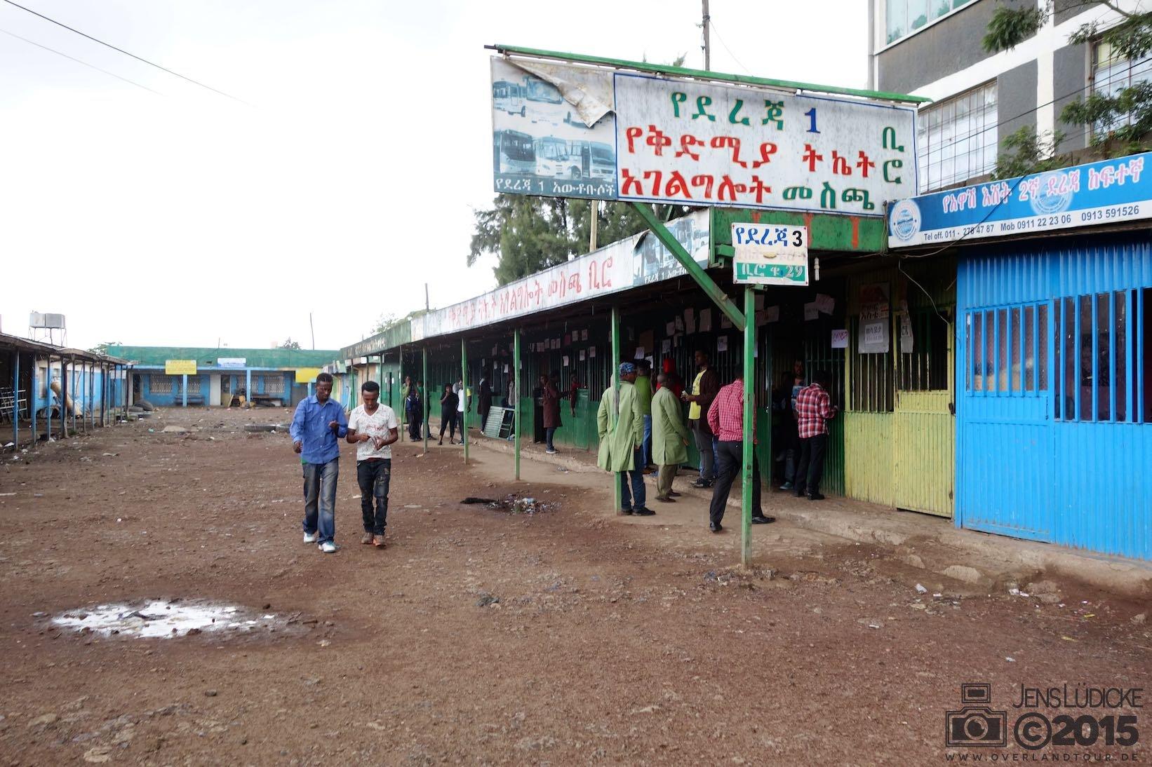 Addis Abeba - Busbahnhof