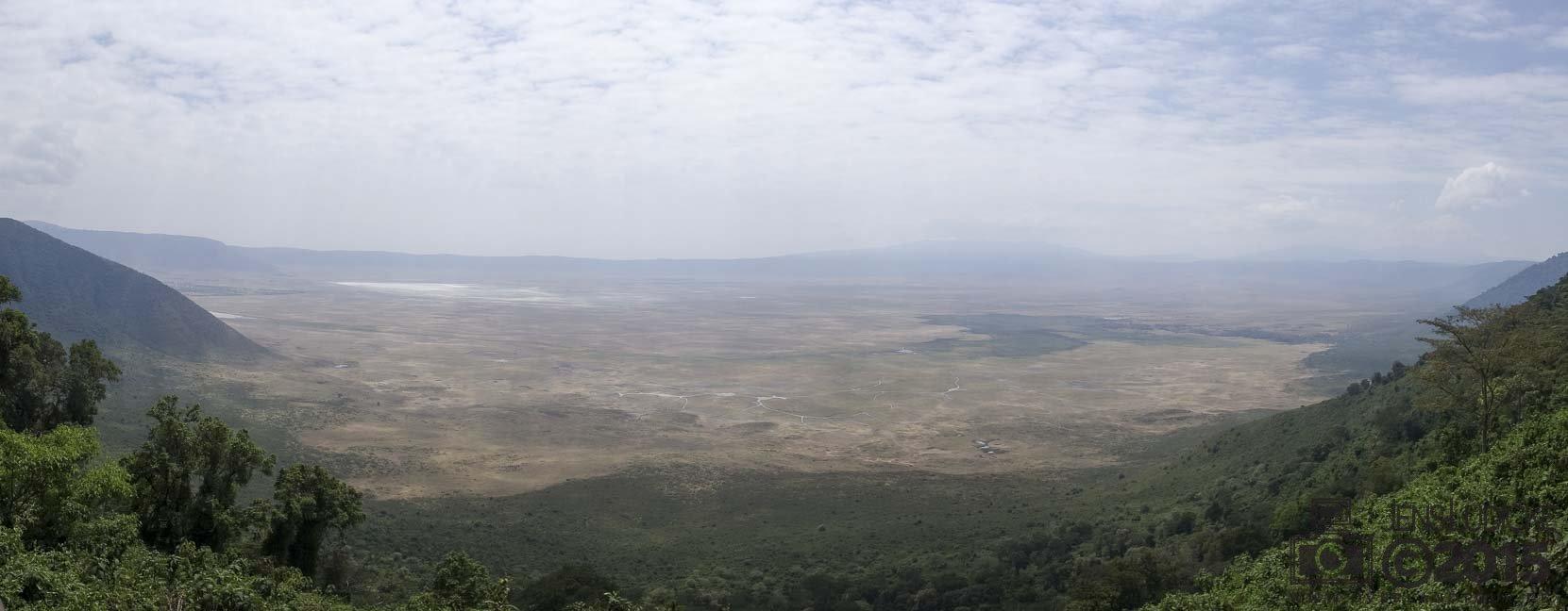 Der Blick in den Ngorongoro Crater