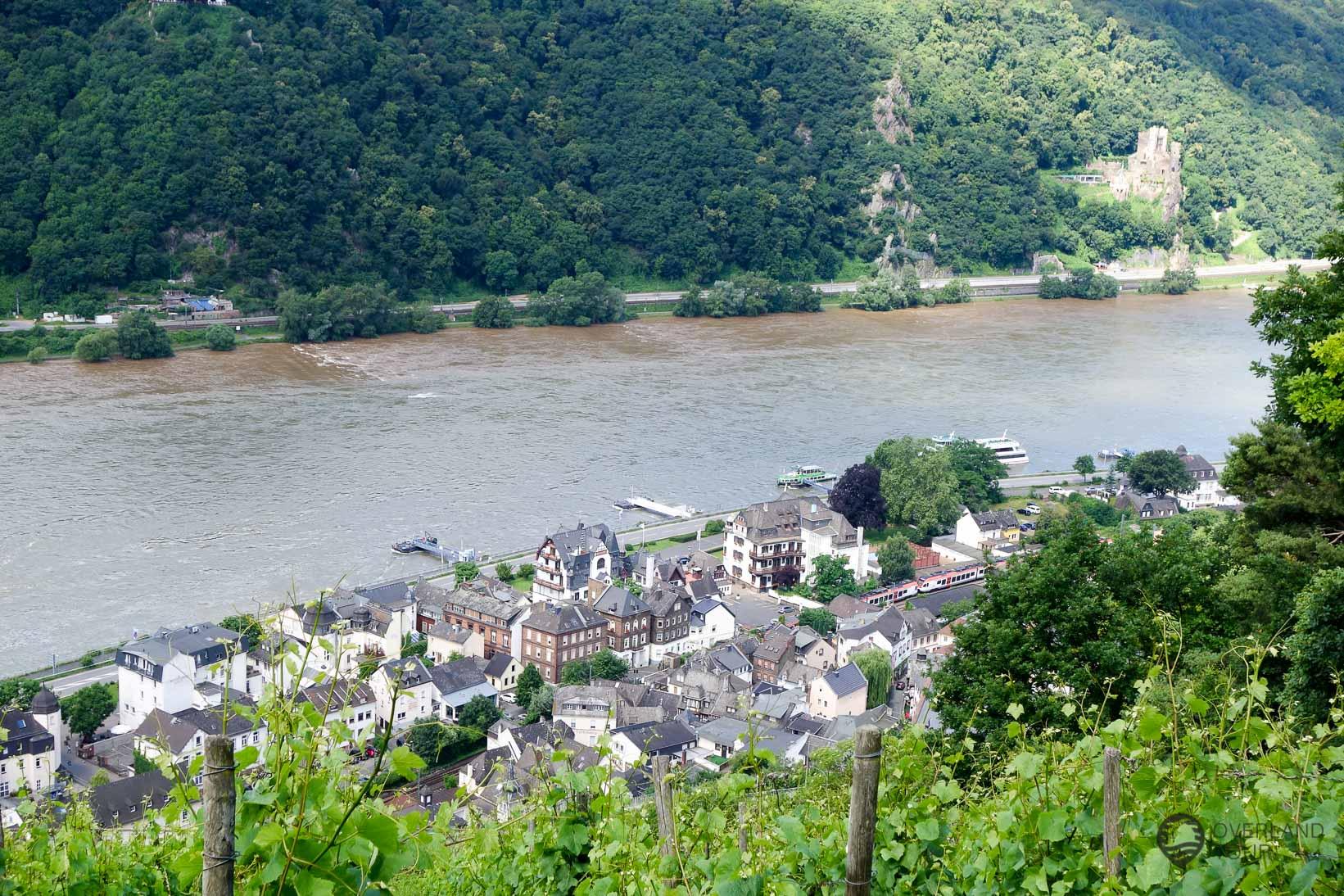 Ausblick auf Assmannshausen am Rhein