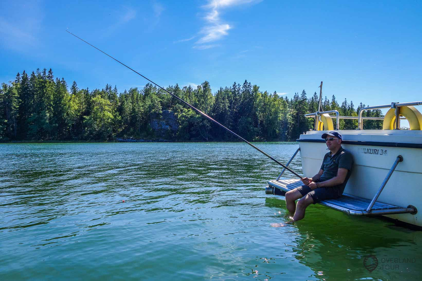 Ganz relaxt angeln - Die Sonne und die Ruhe genießen
