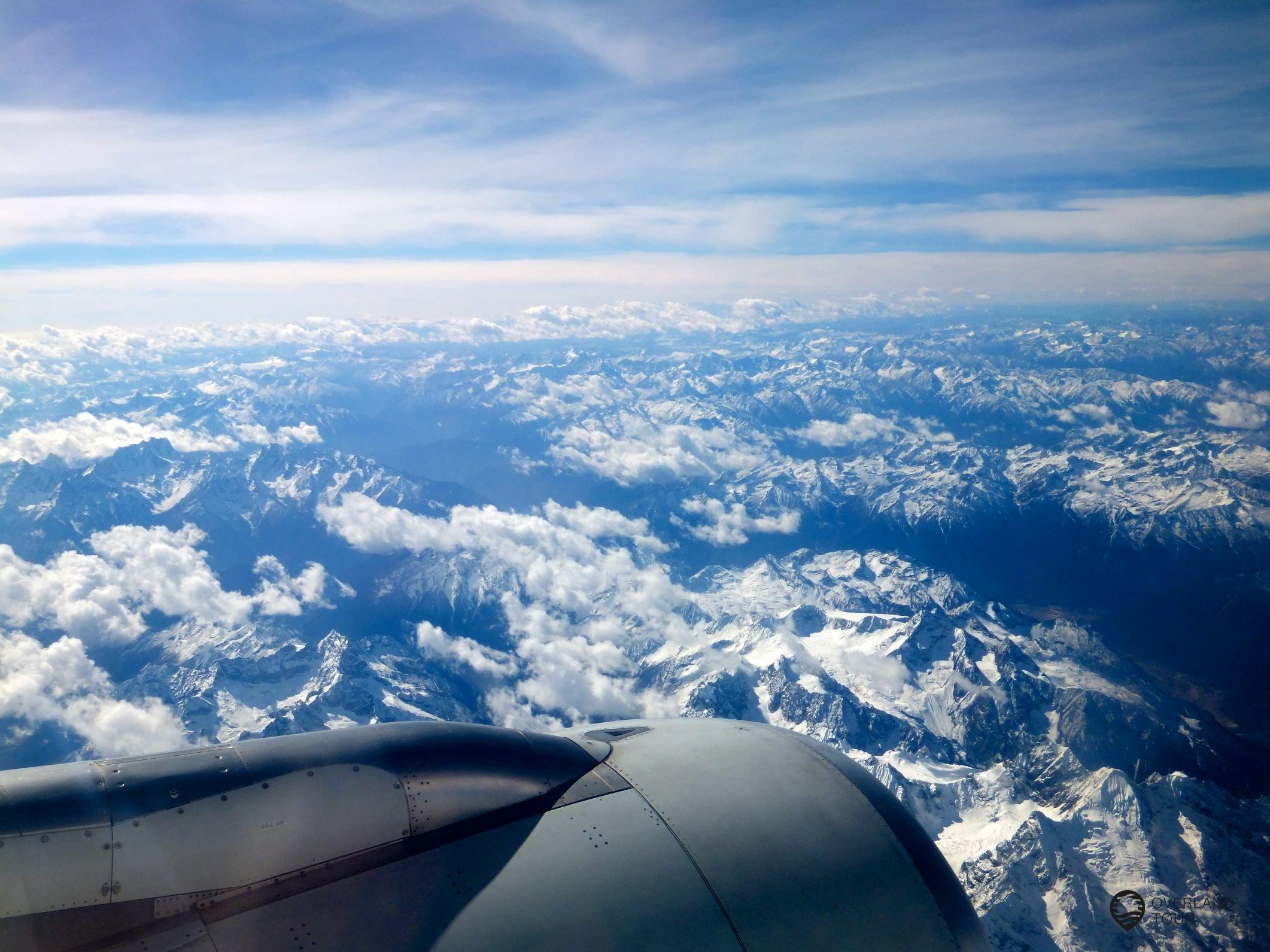 Geniale Aussicht auf dem Flug von Chengdu nach Kathmandu