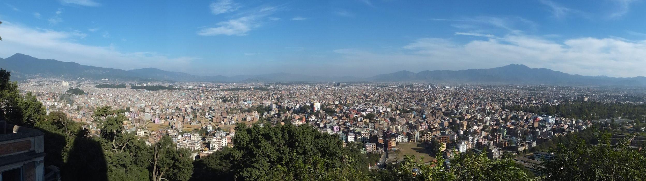 Der Blick über das Kathmandu Valley