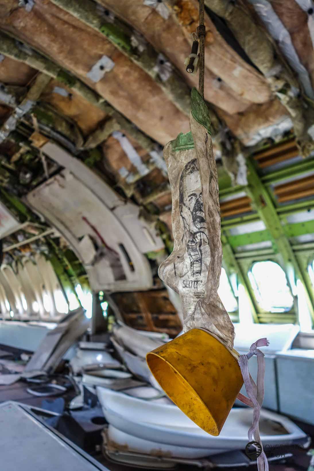Die Boeing 747 von innen auf dem Flugzeugfriedhof Bangkok
