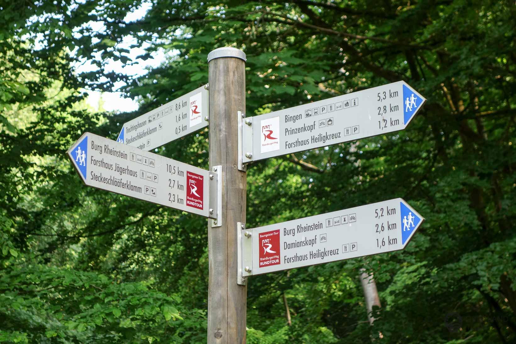 Verlaufen auf dem Rheinburgenweg (Rheinsteig) nicht möglich