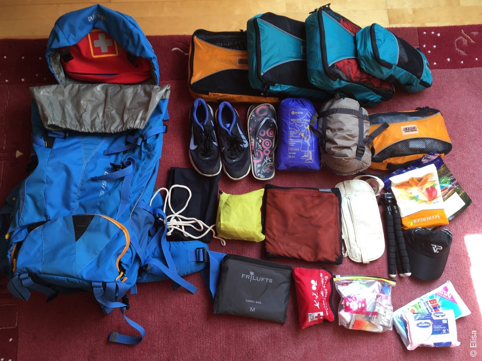 Ich packe meinen Koffer…ich meine natürlich Rucksack!