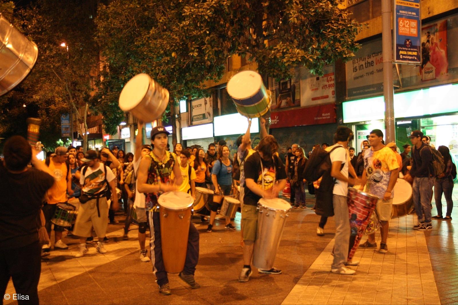 Trommler in Santiago