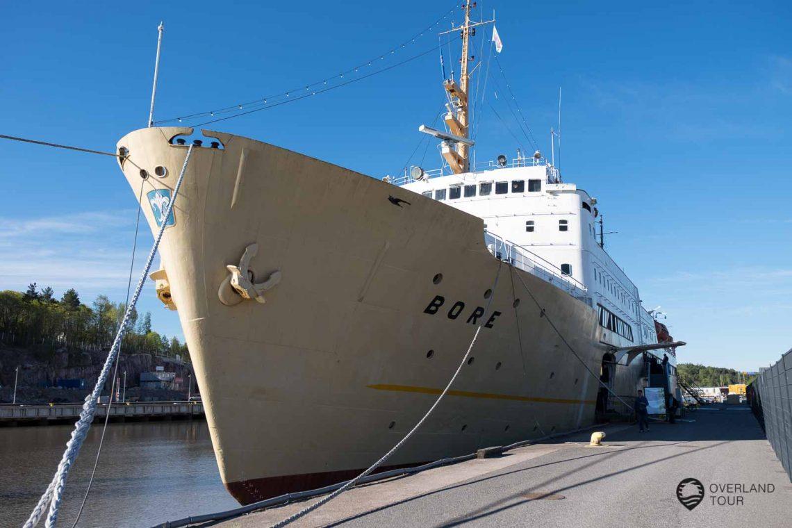 Meine Unterkunft in Turku war das alte Fährschiff BORE. Sehr günstig und Fußläufig zur Innenstadt und ein Steinwurf vom Schloss entfernt