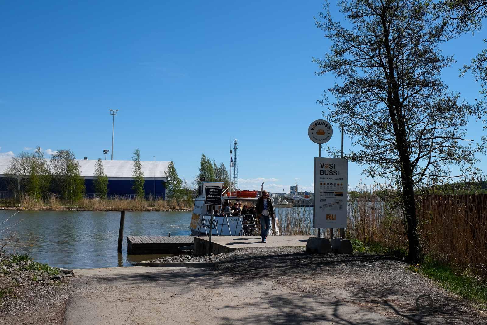 Anlegestelle (Ruissalon Telakka) des Föli Water Bus