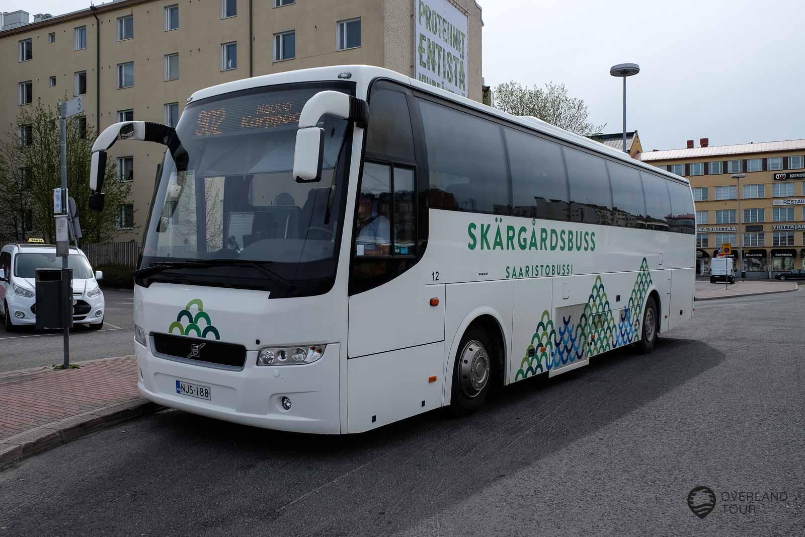 Turku ist das Sprungbrett zum Schärenmeer. Hier am Busbahnhof geht es mit der Linie 902 nach Pargas