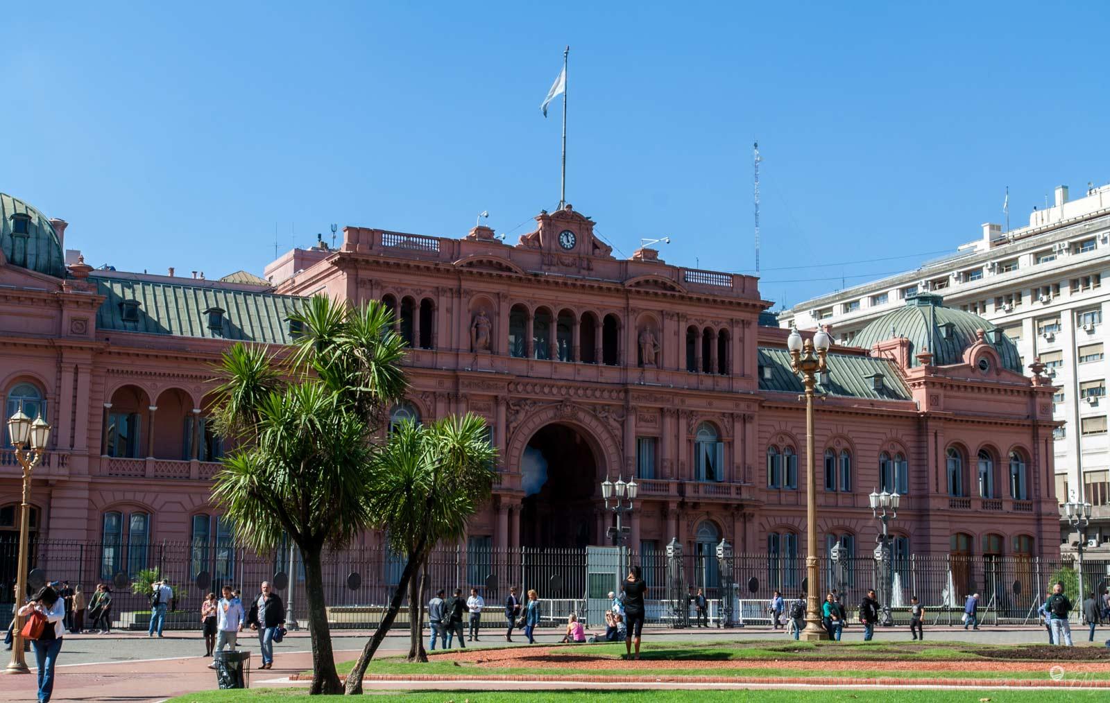 Casa Rosada - der Amtsitz des Präsidenten auf dem Plaza de Mayo
