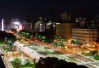 Die Avendia 9 de Julio bei Nacht vom Eurobuilding - was ein Aufwand für 1 Foto!