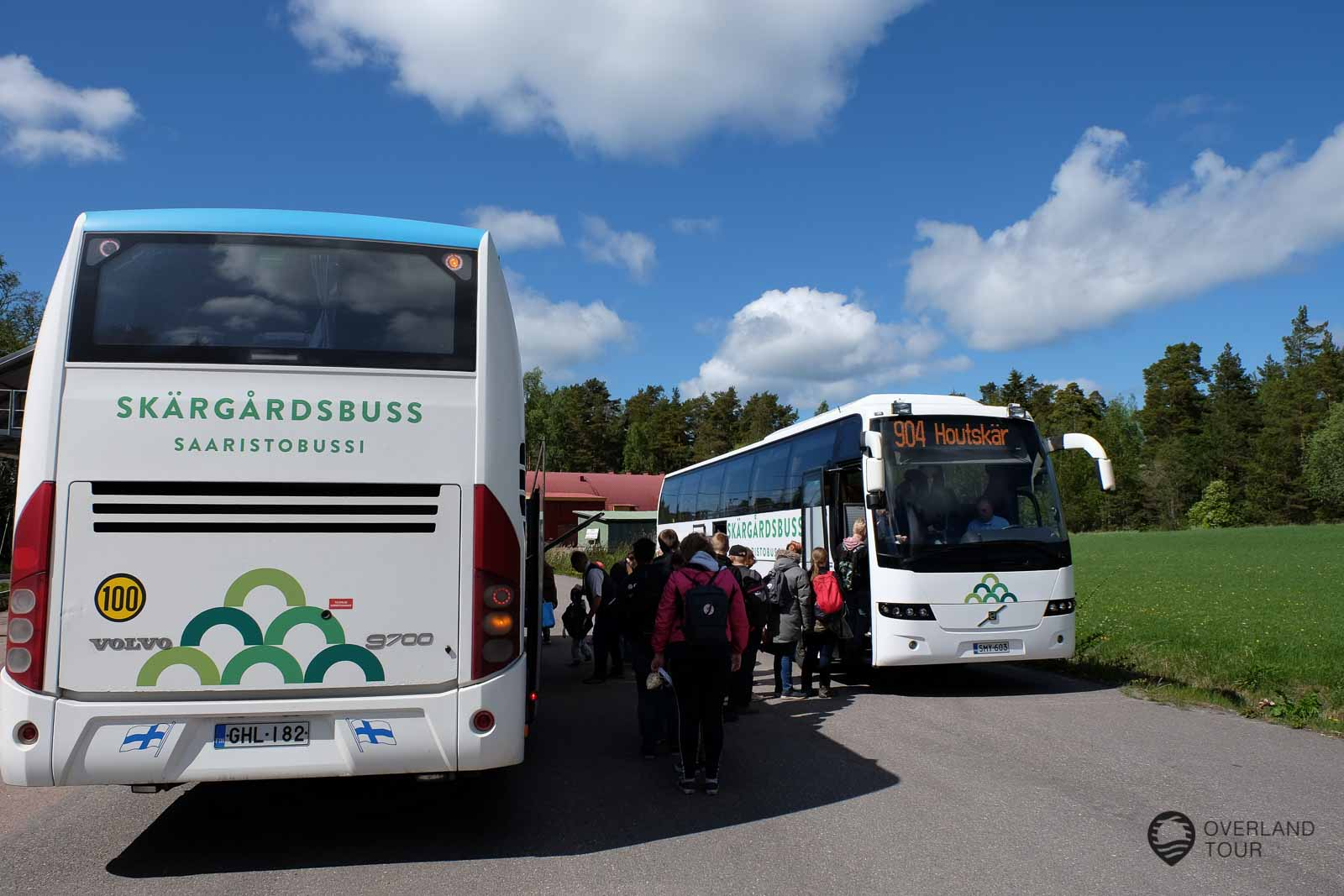 Change from the Skärgårdsbuss line 903 to the line 904 to Houtskär