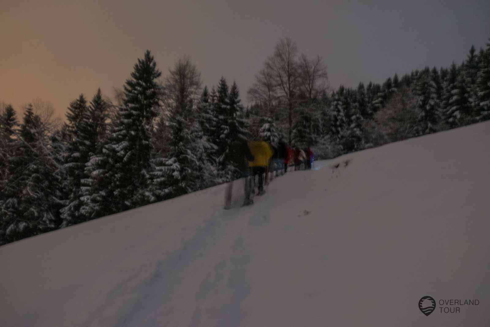 Die nächtliche Schneeschuhwanderung