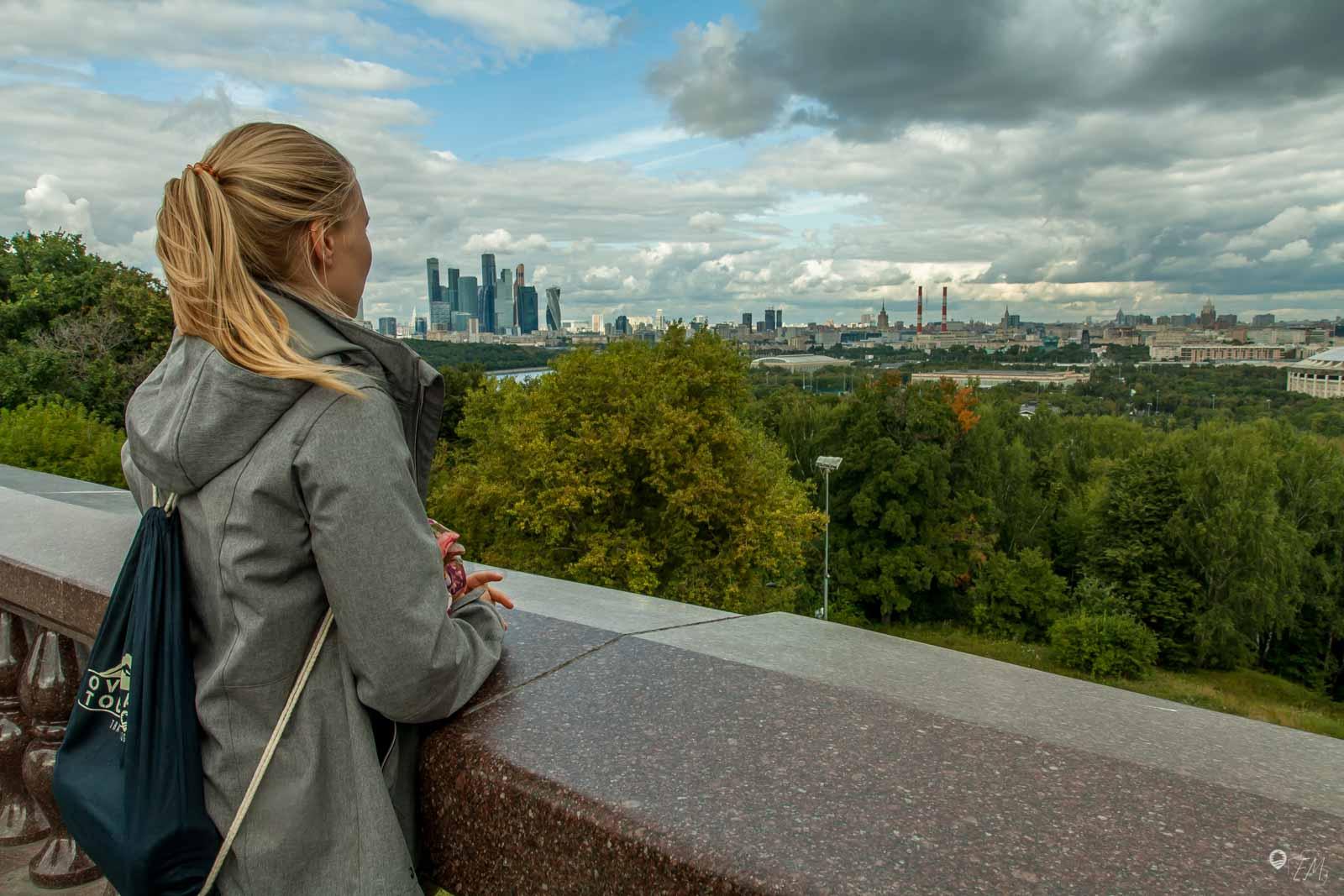 Der Blick von der Lomonossow Universität