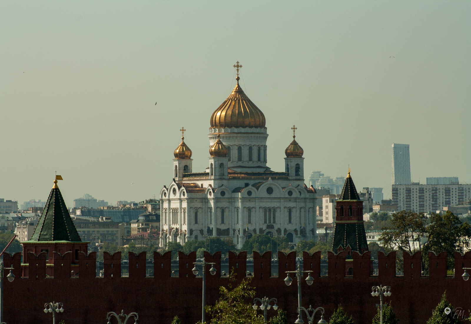 Das Gelände des Skywalks bietet einen wunderbaren Ausblick auf das Kreml Gelände und darüber hinaus