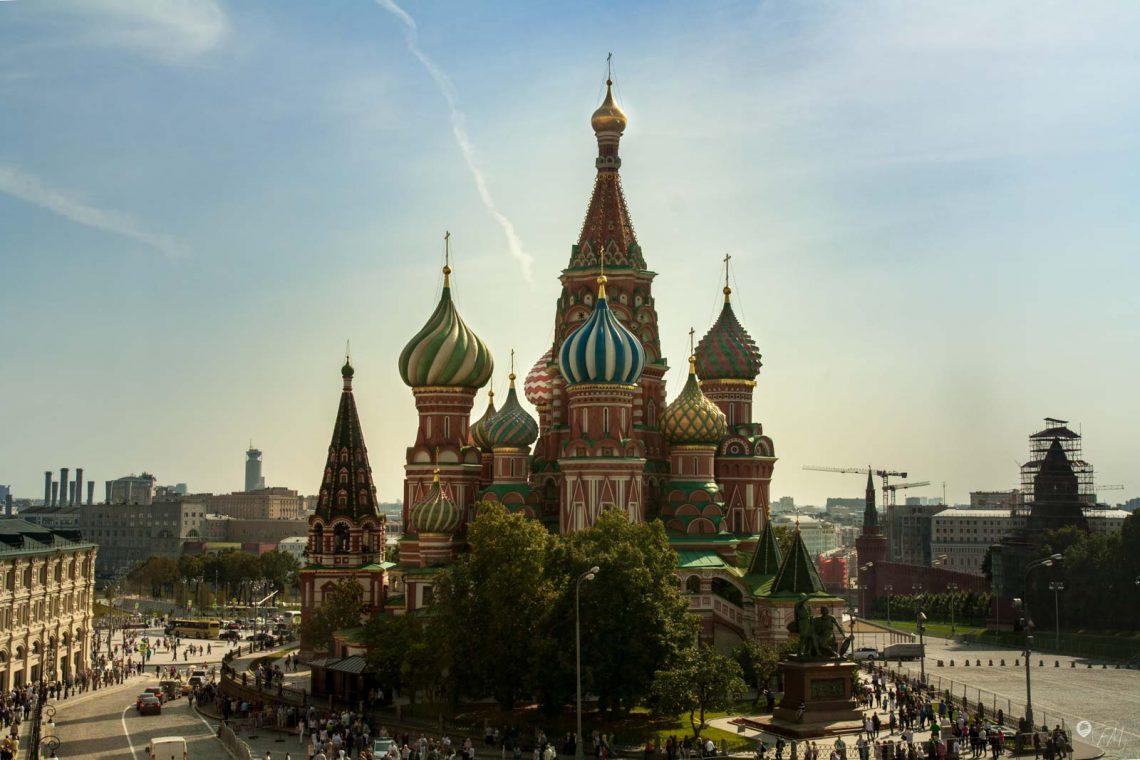 Die Basilius Kathedrale aus dem GUM