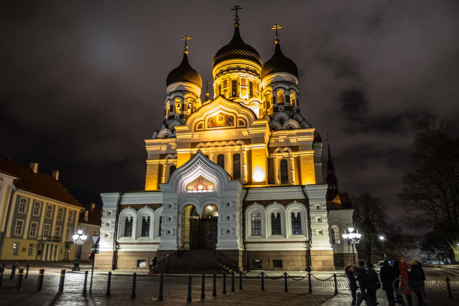 Die Alexander-Newski-Kathedrale bei der Ghost Tour Tallinn