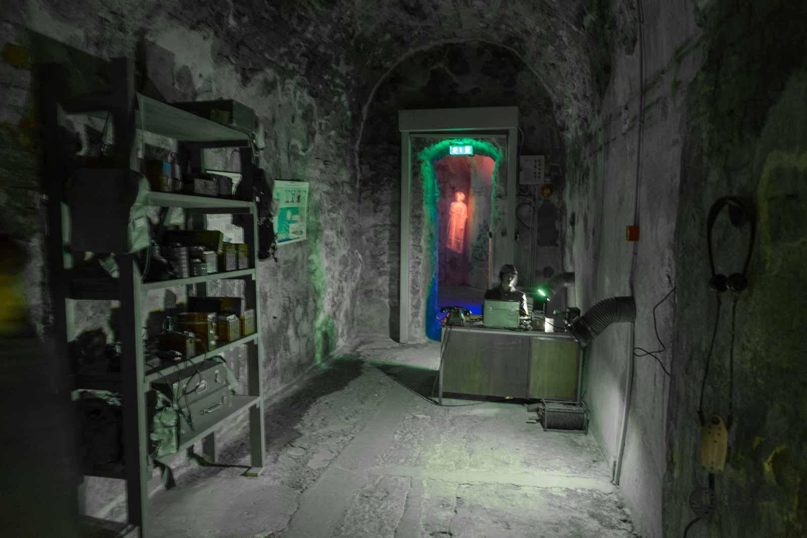 Einer der geheimnisvollen Bastionsgänge der Erdfestungen Tallinns