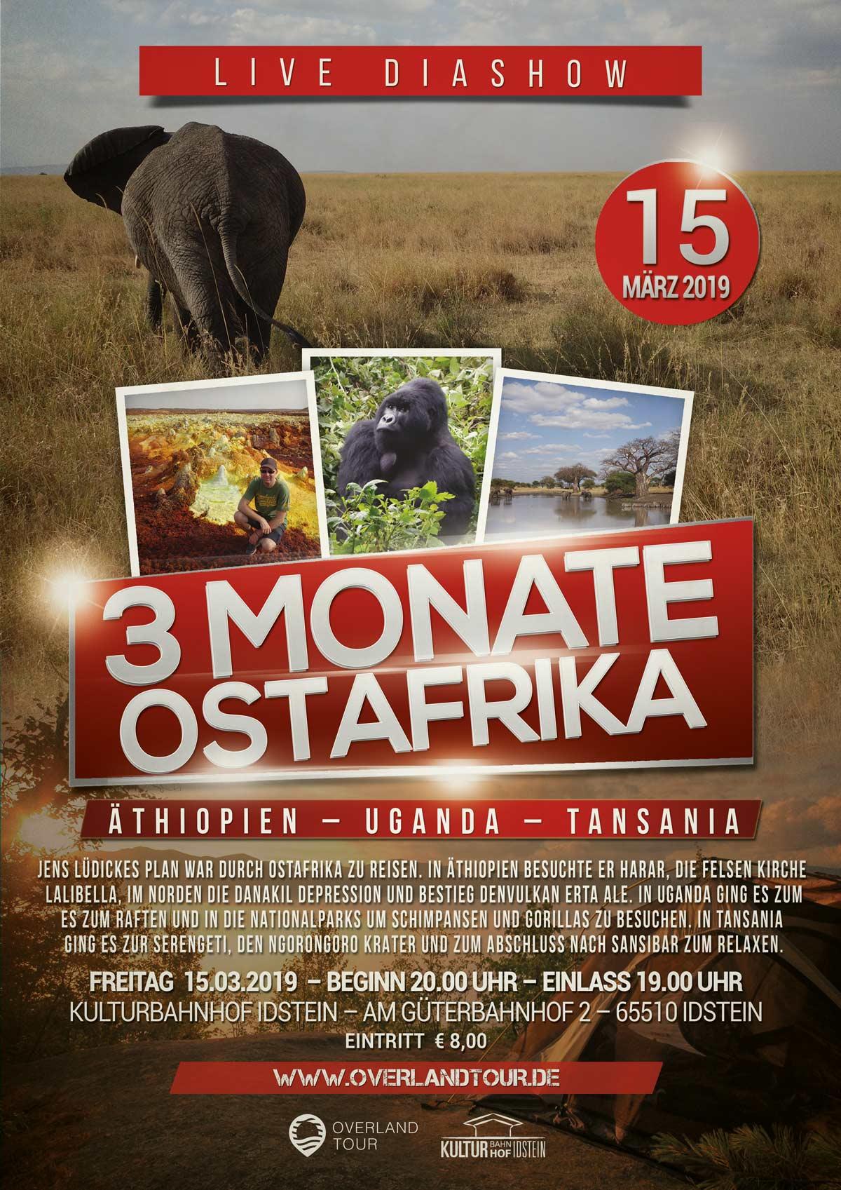3 Monate Ostarfrika - Mit dem Rucksack durch Äthiopien, Uganda und Tansania - LIVE DIASHOW