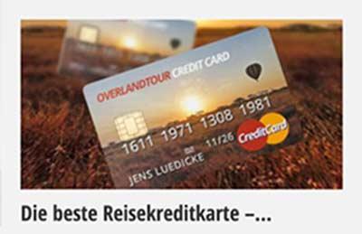 Mehr Informationen zur Reisekreditkarte