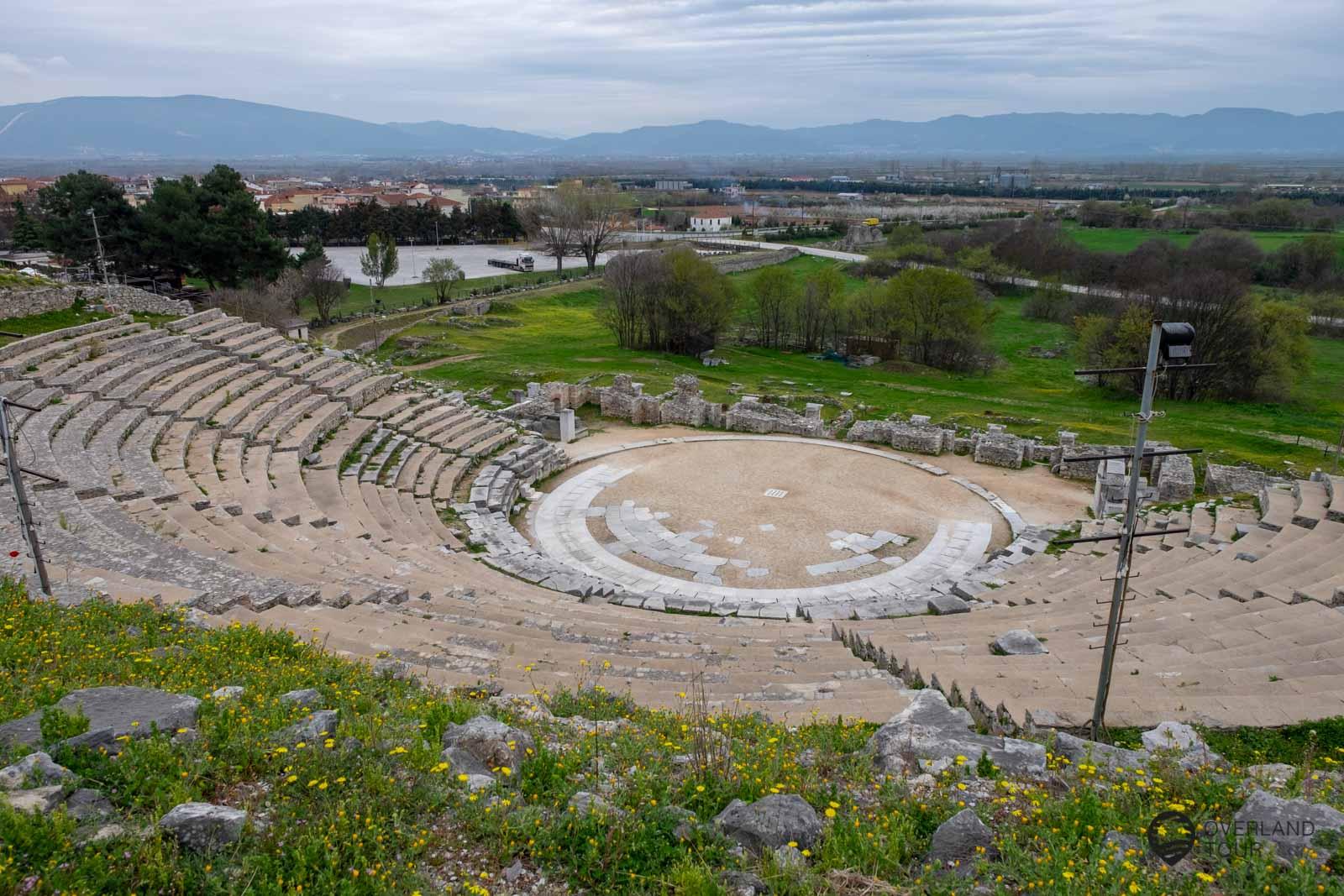 Das Gelände der Archäologische Stätte von Philippi