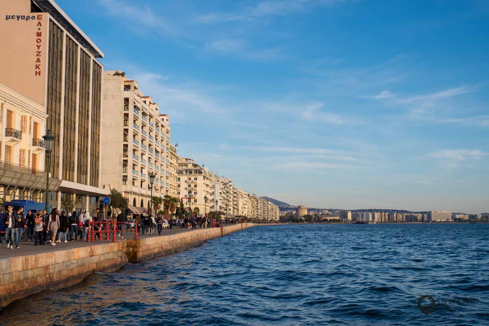 Die Promenade von Thessaloniki