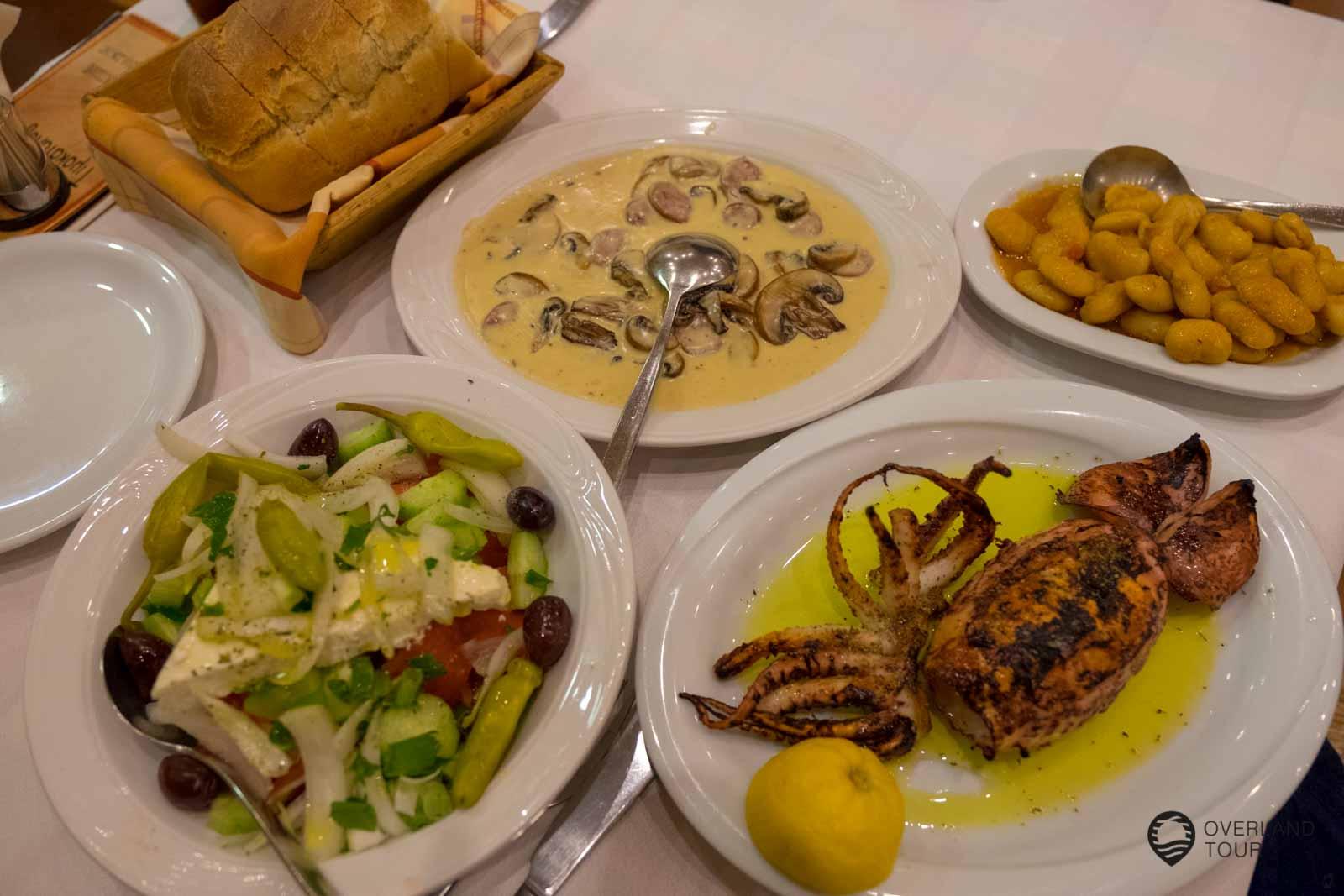 Lecker grieschisches Essen