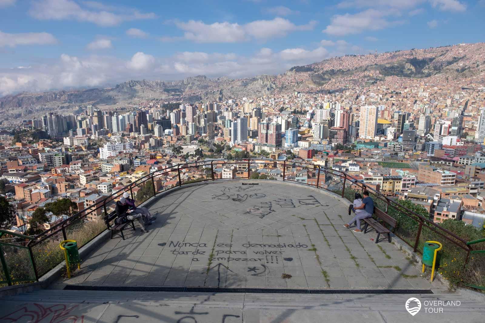 La Paz Sehenswürdigkeiten – Sightseeing in der Seilbahn und der Besuch auf dem Mond