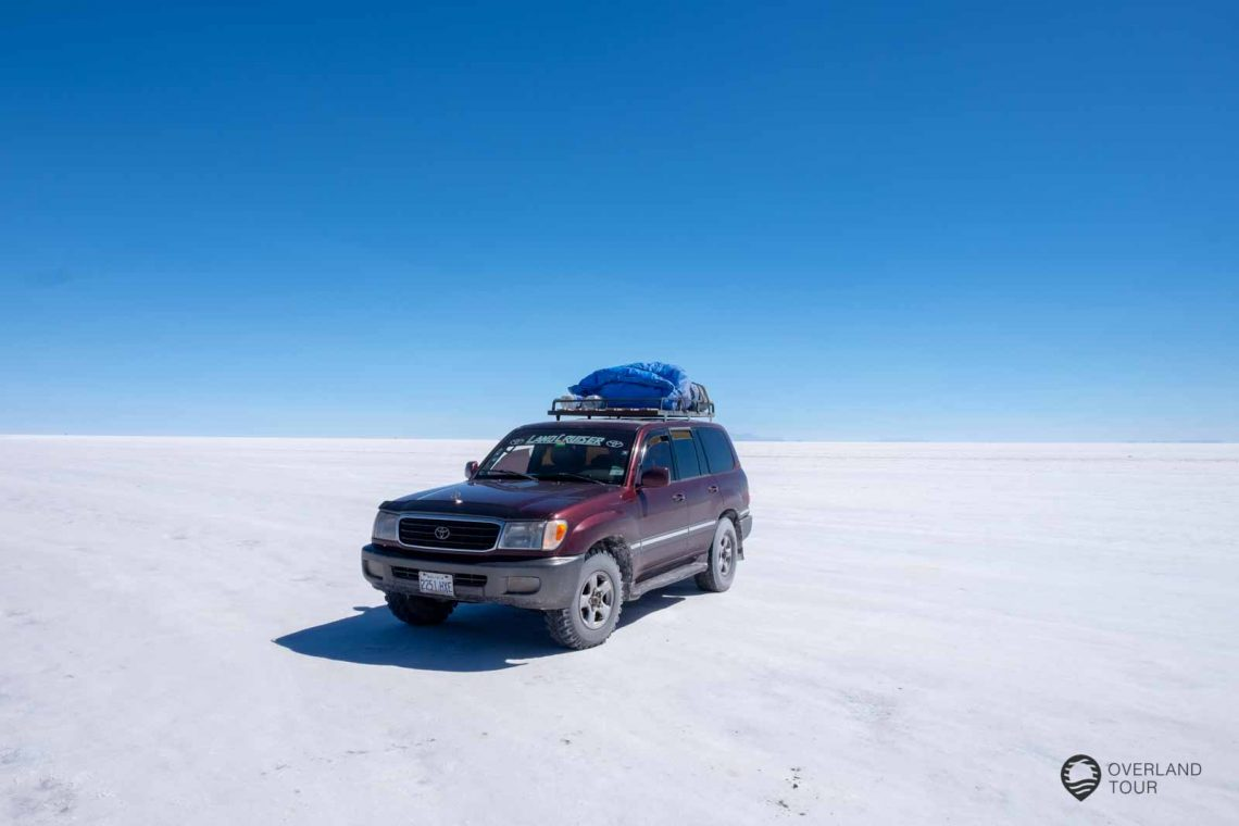 Mit dem Jeep von San Pedro de Atacama nach Uyuni, vorbei an Lagunen Geysiren, Bergen, Flamingos und den klaren Sternenhimmel bei Nacht.
