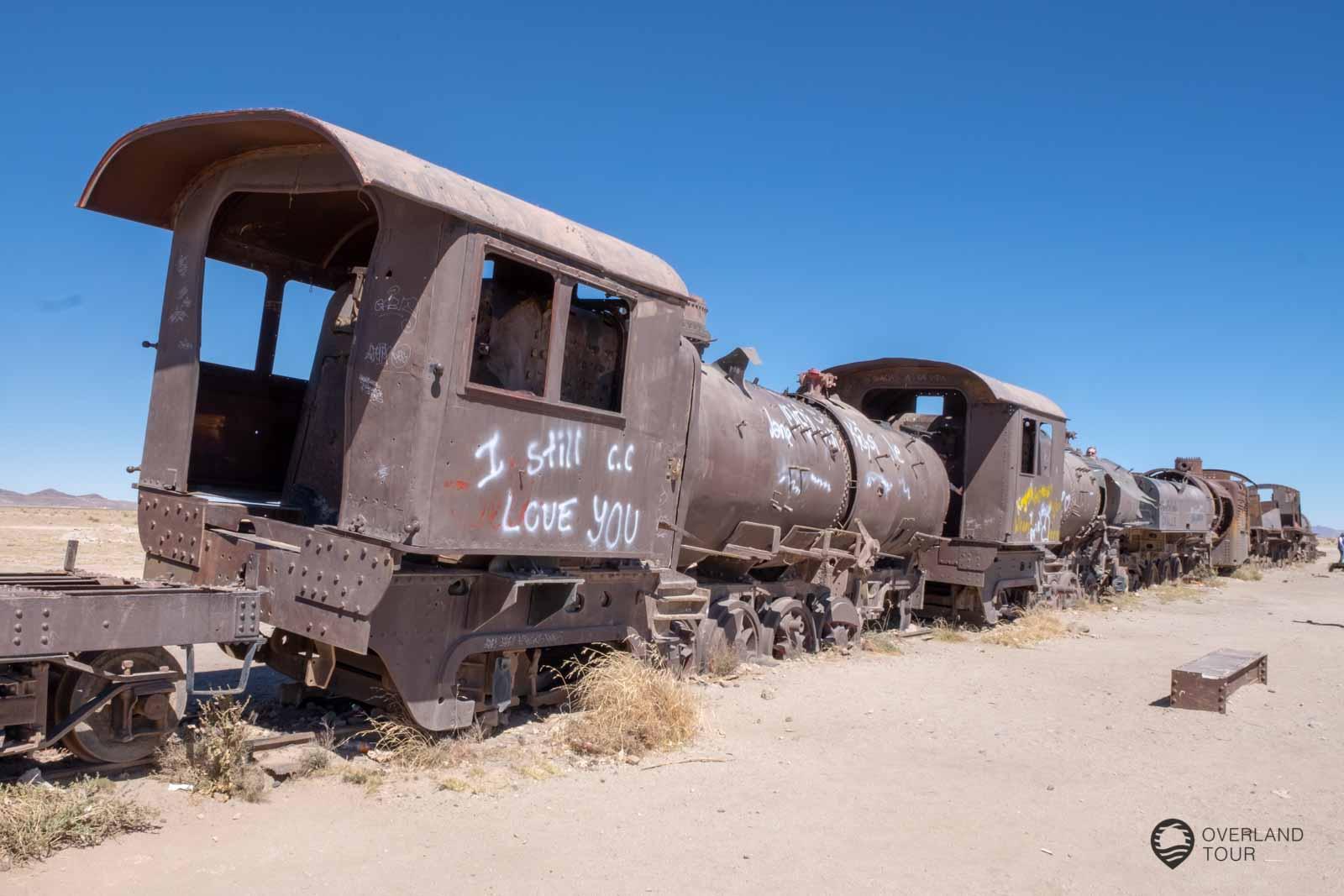 Cementerio de Trenes Der Friedhof der Lokomotiven bei Uyuni