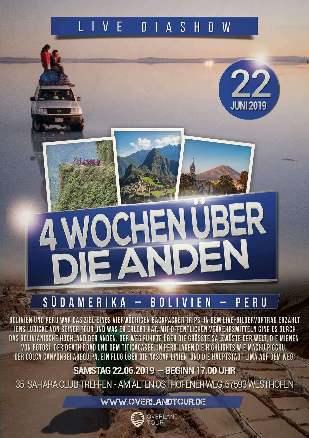 Live Diashow - 4 Wochen über die Anden
