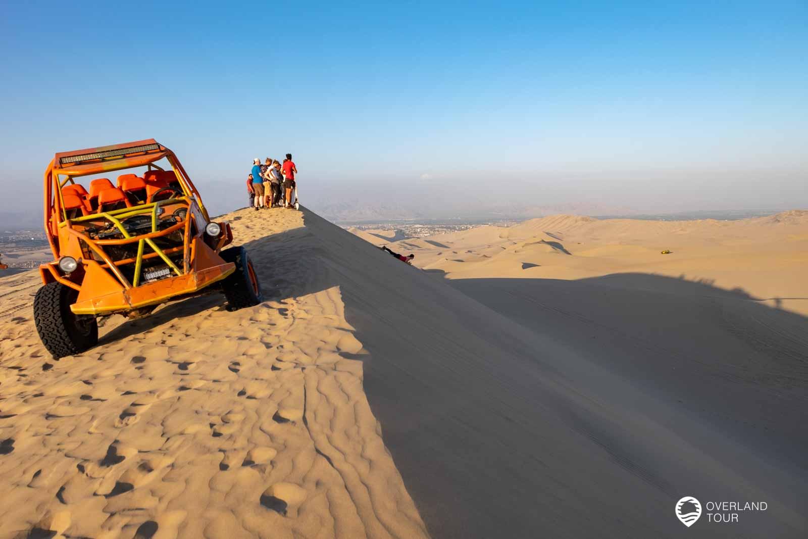 Die Huacachina-Oase, Buggy-Tour inklusive Sandboarding durch die Dünen bei Ica