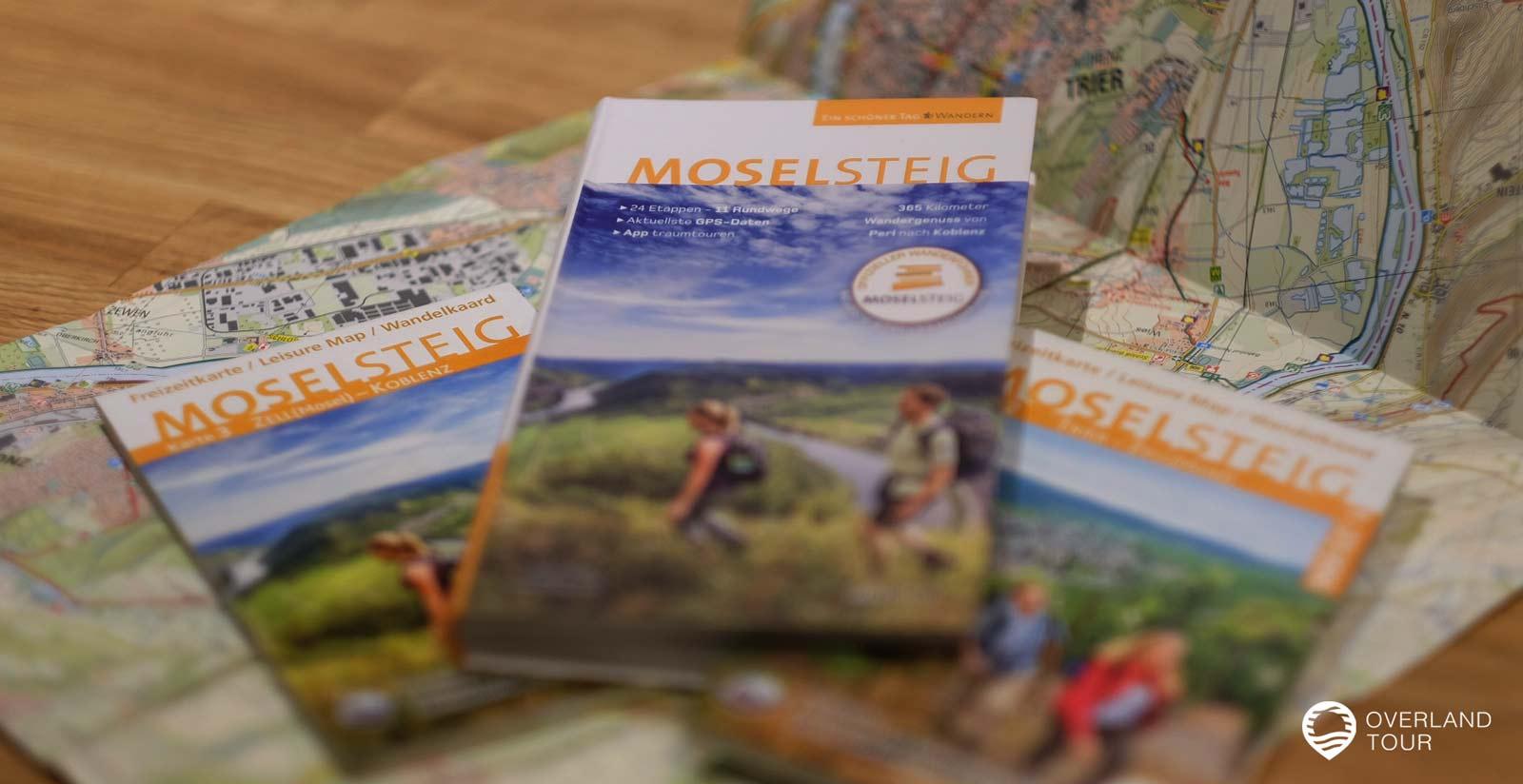 Der Wanderführer Set Moselsteig inkl. Buch und 3 topografischen Wanderkarten