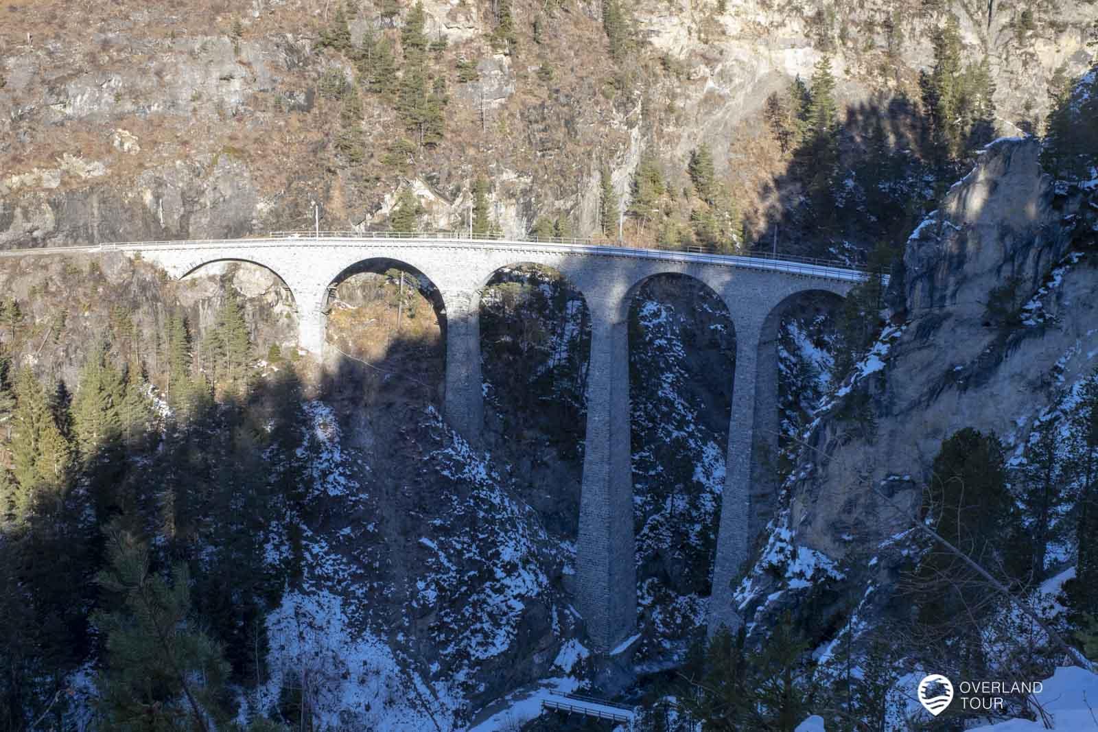 Das Landwasserviadukt in der Schweiz
